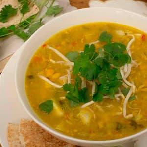 Суп с кукурузой и курицей