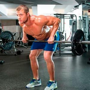 Упражнения на спину со штангой
