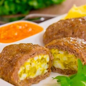 Зразы с яйцом и луком