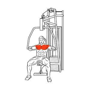 Жим от груди в тренажере