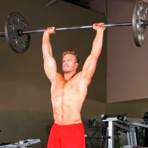Упражнения на плечи со штангой: программа тренировок